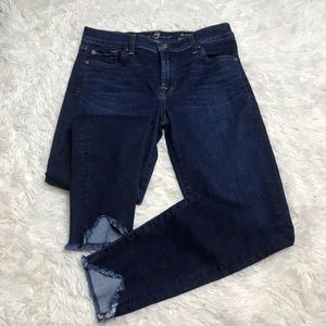 7 For All Mankind Wave Hem Ankle Skinny Jeans